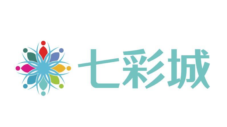 七彩城logo设计