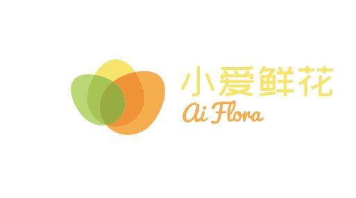 小爱鲜花logo设计
