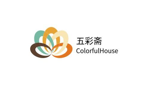 五彩斋logo设计